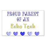Cardiac Echo Tech Sticker (Rectangle)