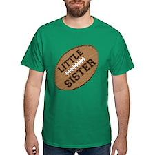 Little Sister Football T-Shirt