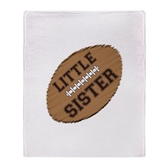 Little Sister Football Throw Blanket