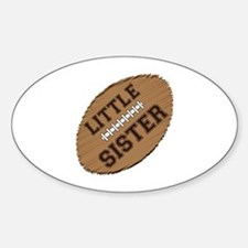 Little Sister Football Sticker (Oval)