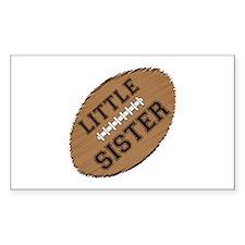 Little Sister Football Decal