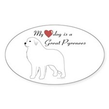 My Heart Dog is a Pyr Decal