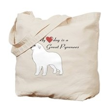My Heart Dog is a Pyr Tote Bag