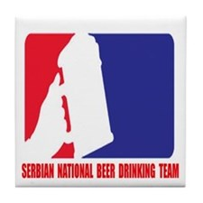 Beer Drinking Team Tile Coaster