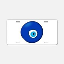 Evil Eye Aluminum License Plate