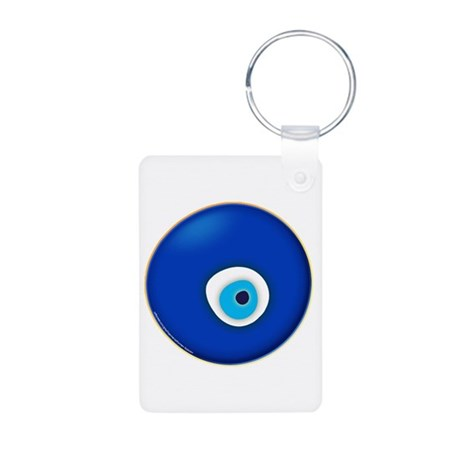 Evil Eye Aluminum Photo Keychain