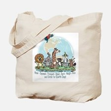 Animals for Earth Day Tote Bag