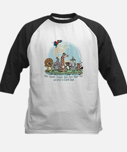Animals for Earth Day Kids Baseball Jersey