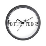 F*** France (in french) Wall Clock