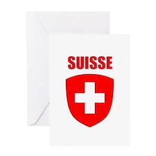Suisse Greeting Card