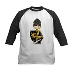 Cute Crusader Knight Kids Baseball Jersey