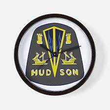 Dark Hudson Logo Wall Clock