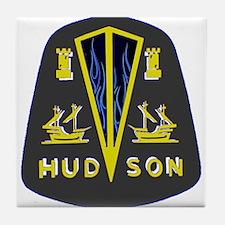 Dark Hudson Logo Tile Coaster