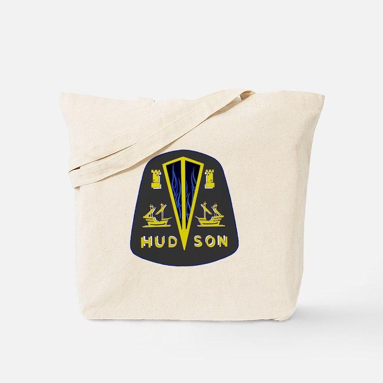 Dark Hudson Logo Tote Bag