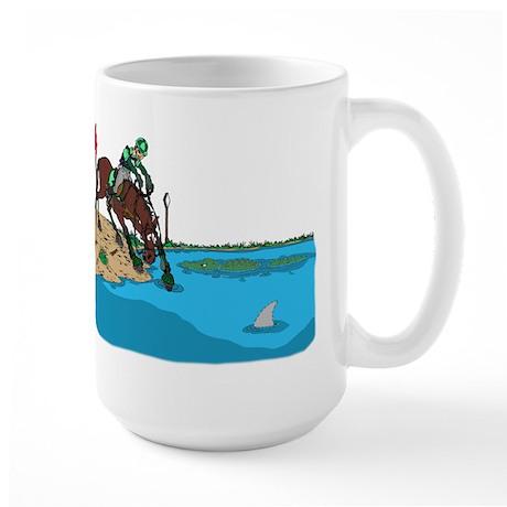 Horse at Water Jump Large Mug