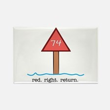 Red Right Return Rectangle Magnet