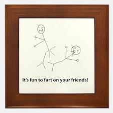 Funny Fart On Friends Framed Tile