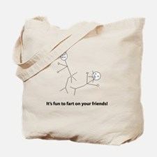 Funny Fart On Friends Tote Bag
