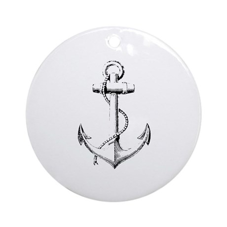 Anchor Ornament (Round)