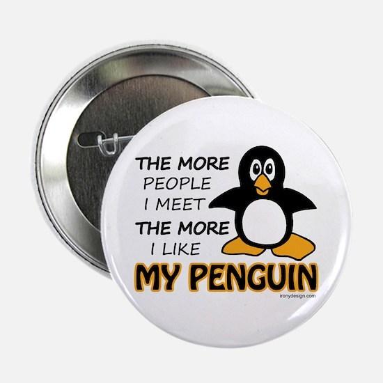 "I Like My Penguin 2.25"" Button"