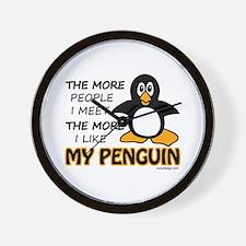 I Like My Penguin Wall Clock