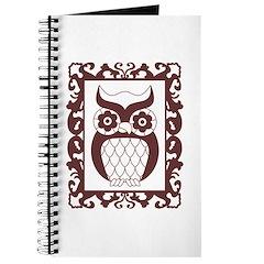 Retro Style Framed Owl Journal