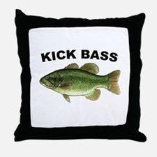 Kick Bass Bassmaster Throw Pillow