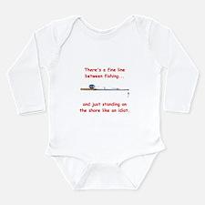 Fishing Line Long Sleeve Infant Bodysuit