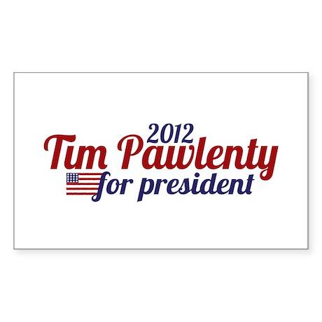 Tim Pawlenty 2012 Sticker (Rectangle 10 pk)