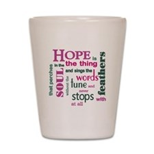 Hope with Feathers Shot Glass