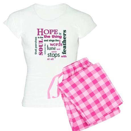 Hope with Feathers Women's Light Pajamas