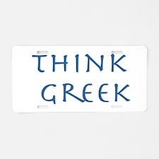 think greek Aluminum License Plate