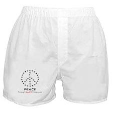 Peace Thru Firepower Boxer Shorts