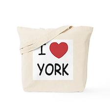I heart York Tote Bag