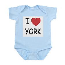 I heart York Infant Bodysuit