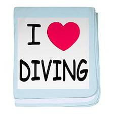 I heart diving baby blanket