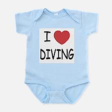 I heart diving Infant Bodysuit
