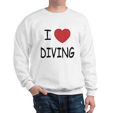 I heart diving Sweatshirt