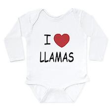 I heart llamas Long Sleeve Infant Bodysuit