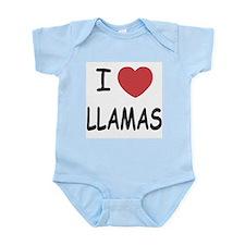 I heart llamas Infant Bodysuit