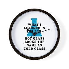 Lab Glass Wall Clock