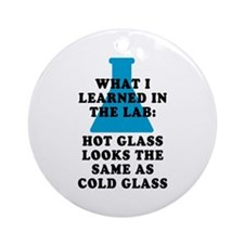 Lab Glass Ornament (Round)
