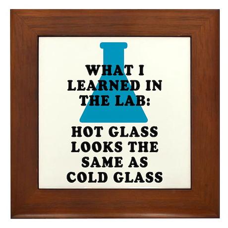 Lab Glass Framed Tile