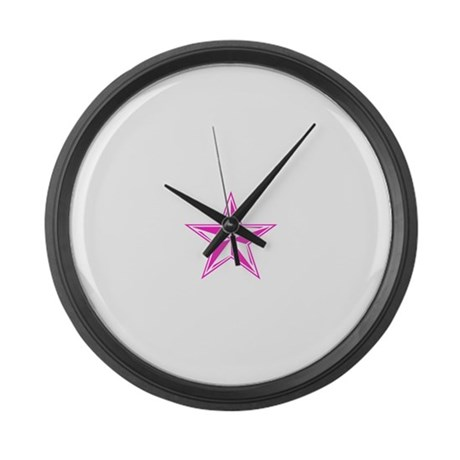 Naval Star Large Wall Clock
