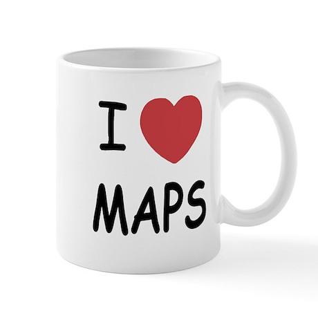 I heart maps Mug