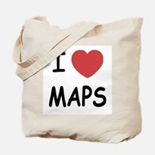 I heart maps Tote Bag