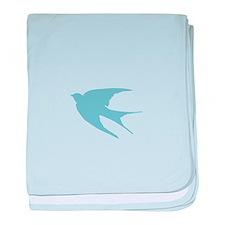 Swallow baby blanket