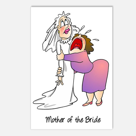Funny Mother of the Bride Postcards (Package of 8)