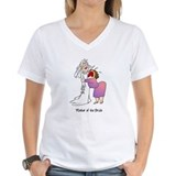 Mother of the bride Womens V-Neck T-shirts