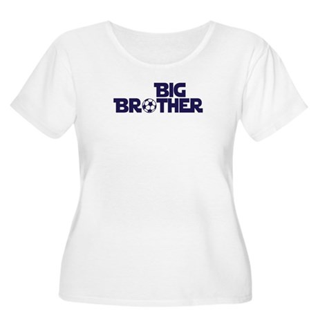 Big Brother Soccer Women's Plus Size Scoop Neck T-